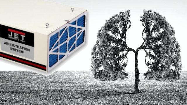 Système de filtration d'air pour atelier