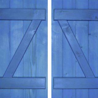 paire battant volet bleu 05022000
